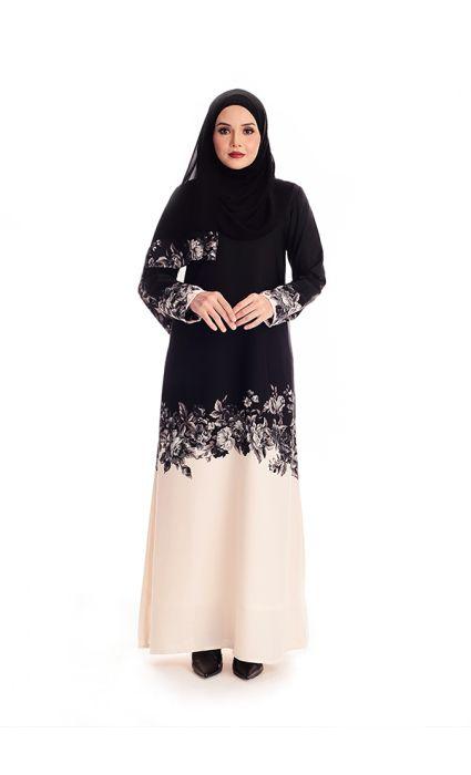 Amina Abaya Powder Puff