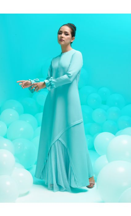 amora dress canal blue