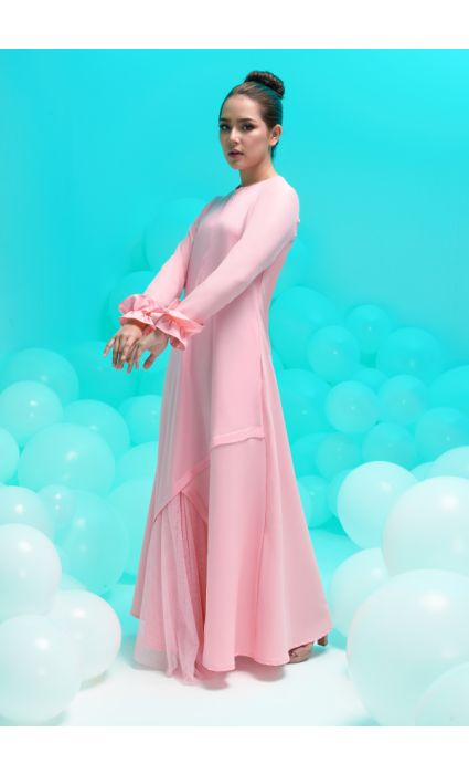 amora dress coral pink