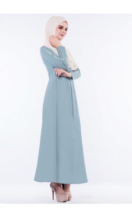 Anna Dress Bright Aqua