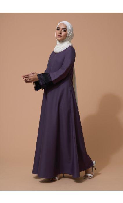 Aifa Dress Argyle Purple