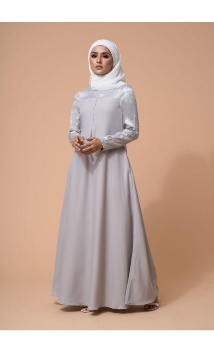 Raahi Dress Ash Gray