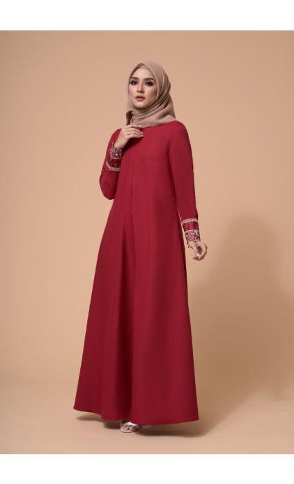 Amira Dress Barn Red