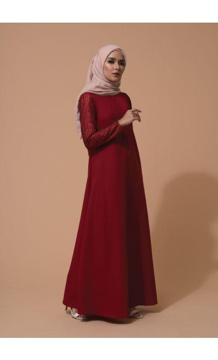 Mahira Dress Barn Red