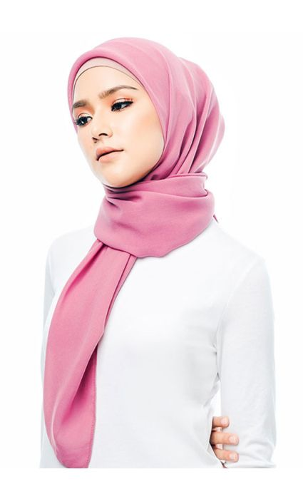 Basic Square Scarf Pink Guava