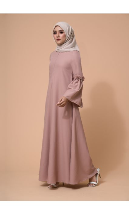 Barqa Dress Bellini Brown