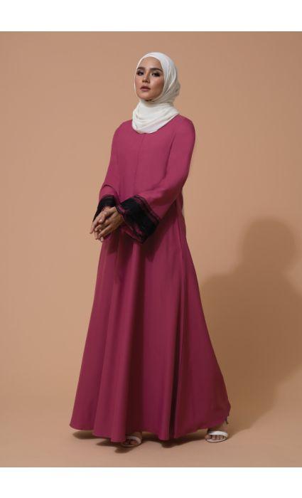 Aifa Dress Berry Fuchsia