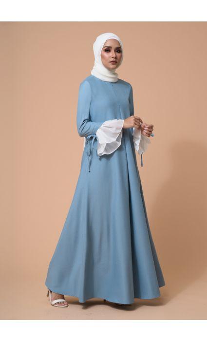 Gia Dress Blue Glow