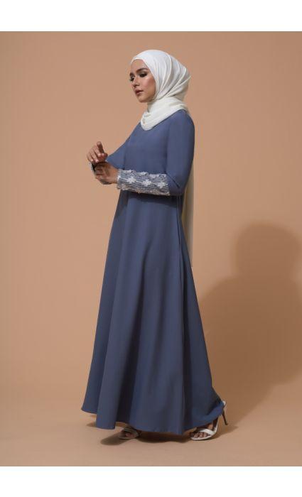 Farha Dress Blue Musk