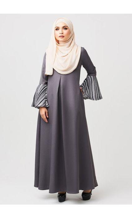 Bohemian Dress Airy Gray