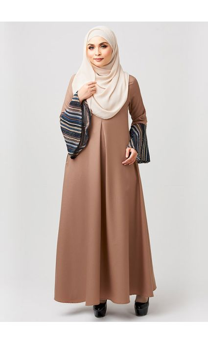 Bohemian Dress Almond Brown