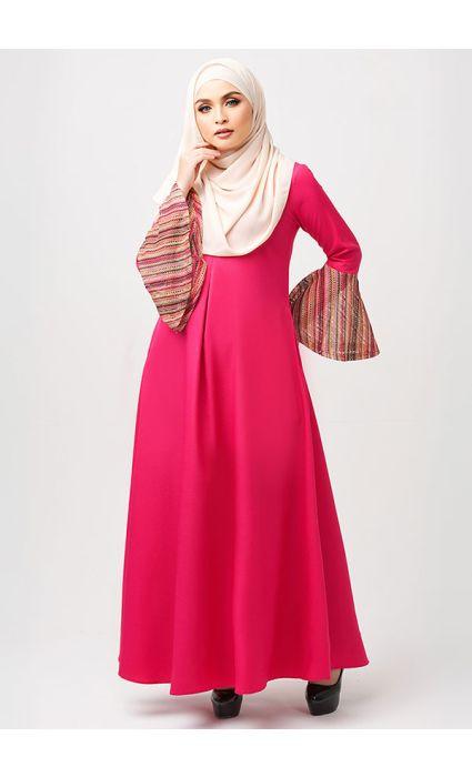 Bohemian Dress Flamingo Pink