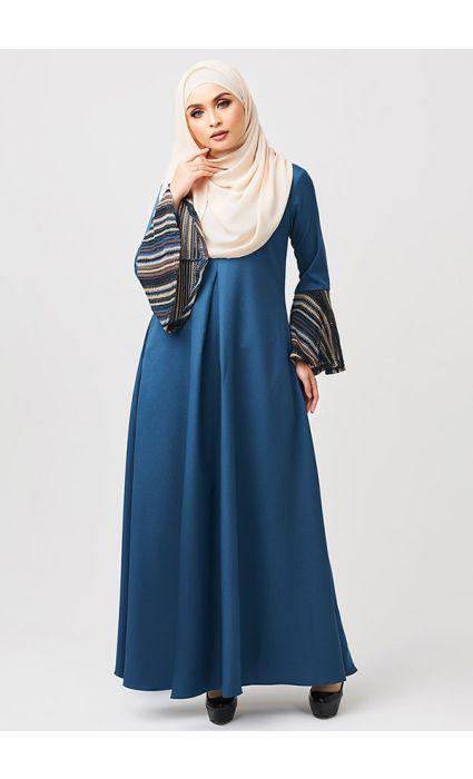 Bohemian Dress Malibu Blue