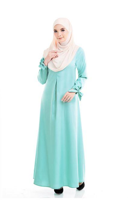 Bow Dress Aruba Blue