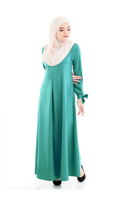 Bow Dress Turquoise