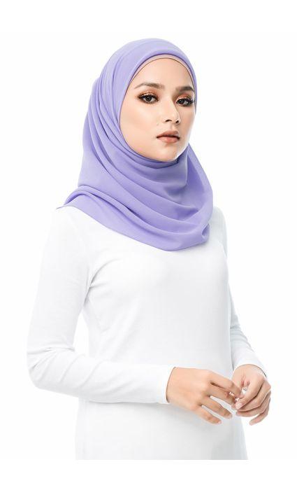 Chiffon Eyelash Square Scarf Lavender