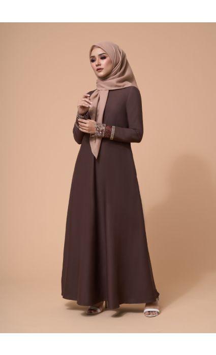 Amira Dress Cinnamon Brown