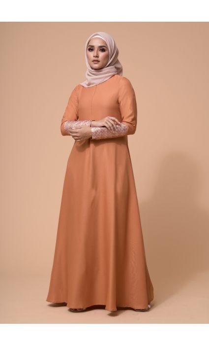 Laila Dress Copper Tan