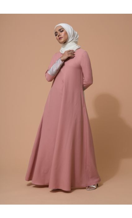 Raisa Dress Coral Pink