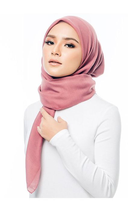 Cotton Square Scarf Dusty Pink