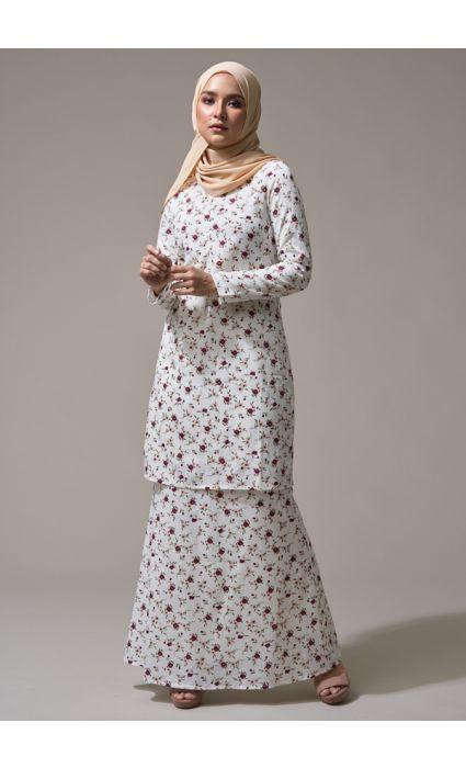 Kurung Peace Cotton White