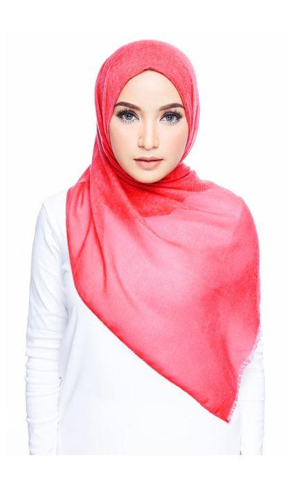 Cotton Wide Shawl Crimson
