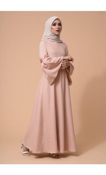 Barqa Dress Cream Tan