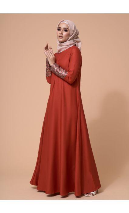 Laila Dress Crimson Red