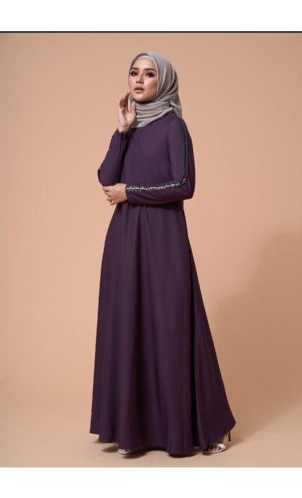 Jaeda Dress Deep Purple