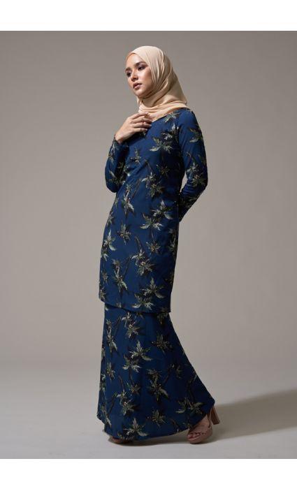 Kurung Grace Diva Blue