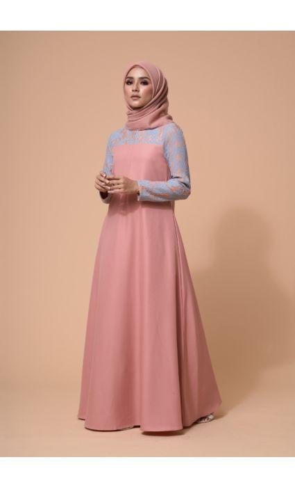Ebra Dress Dusty Pink