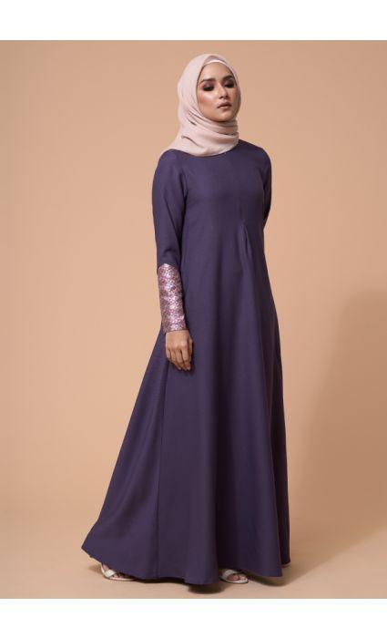 Laila Dress Dusty Purple