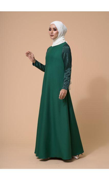 Karina Dress Eden Green