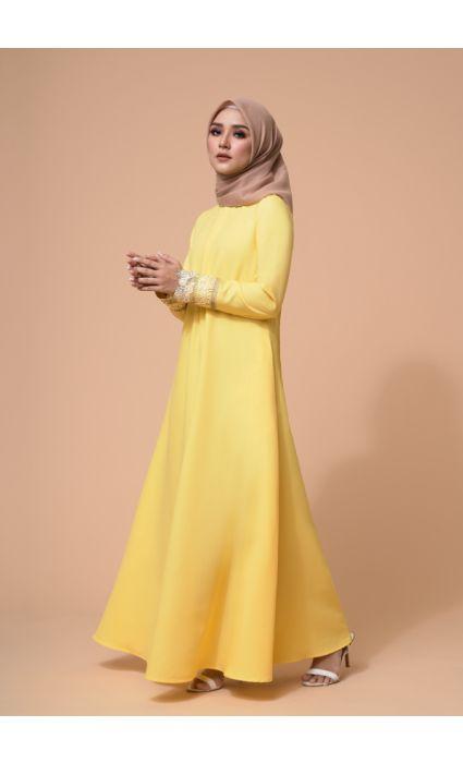 Amira Dress Empire Yellow