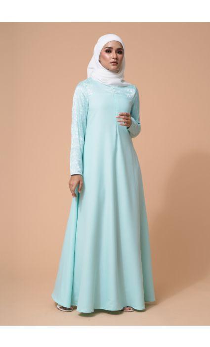 Raahi Dress Fair Aqua