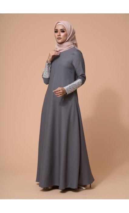 Laila Dress Frost Gray