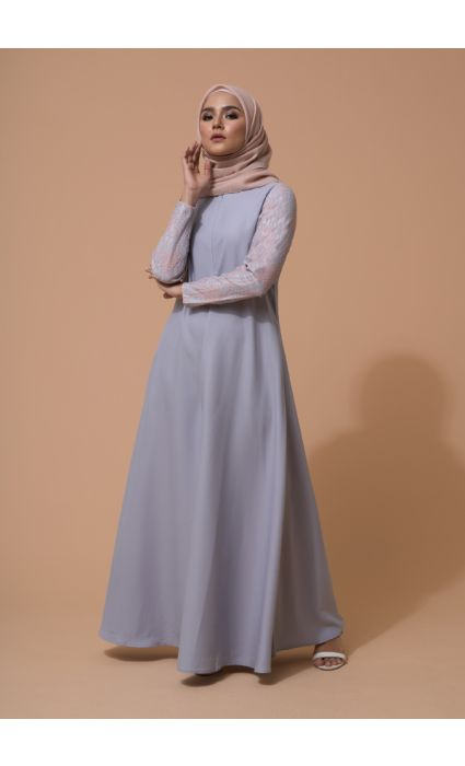 Mahira Dress Glacier Gray