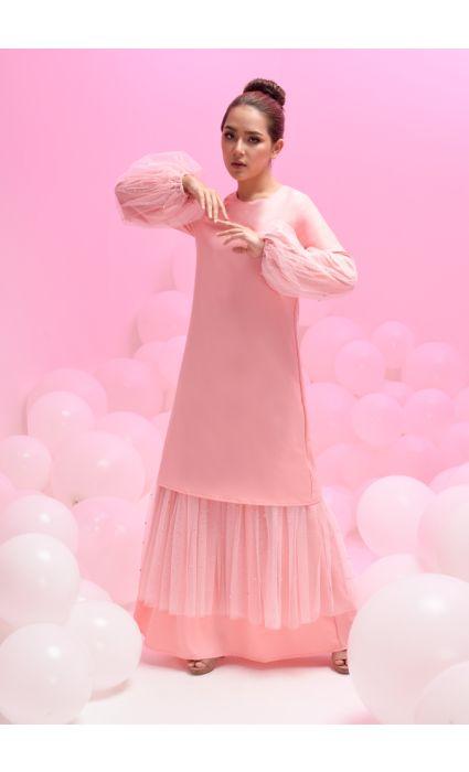grace dress coral pink
