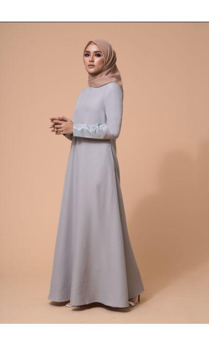 Baheera Dress Gray Violet