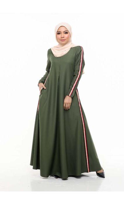 Gucci Jubah Dress Pasto Green