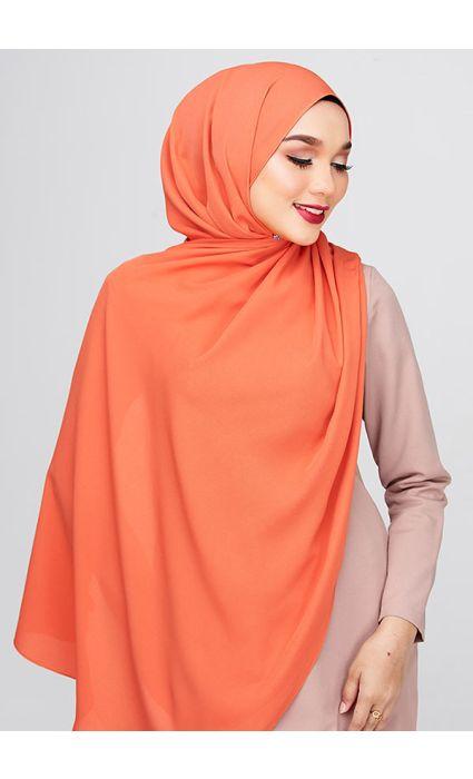 Kate Plain Shawl Apricot Orange