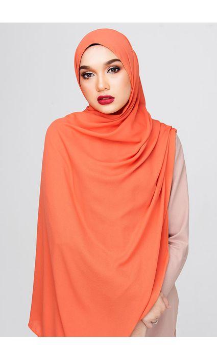 Kate Plain Shawl Deep Orange