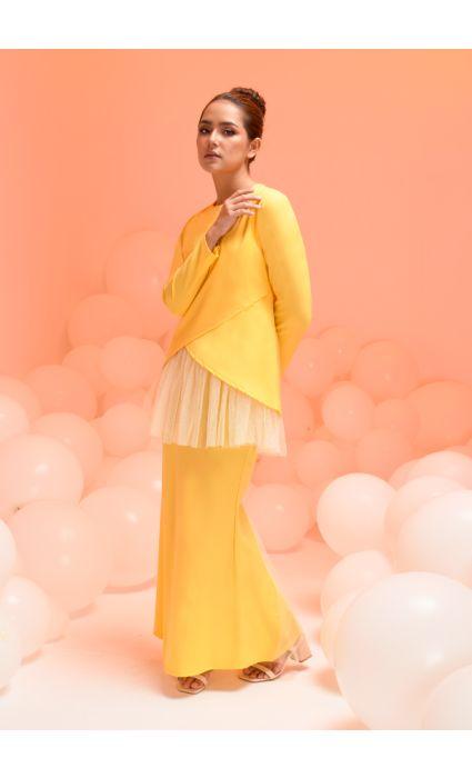 Laura Kurung Empire Yellow