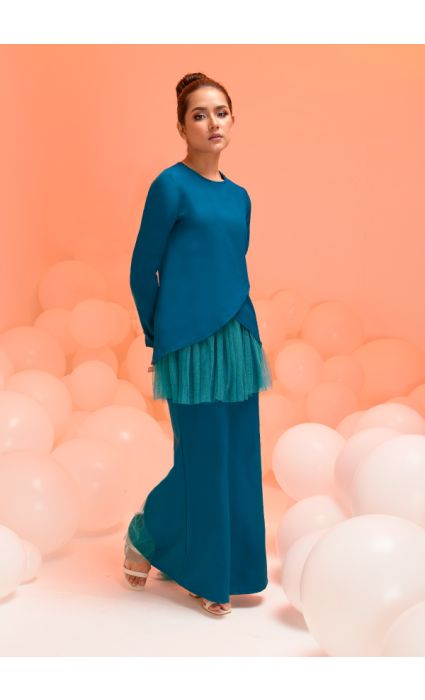Laura Kurung Teal Blue