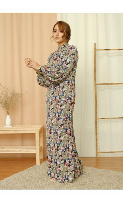 Lilia Comfort Kurung Freesia Blue