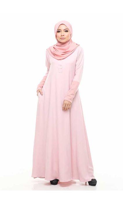 Massimo Jubah Dress Silver Pink