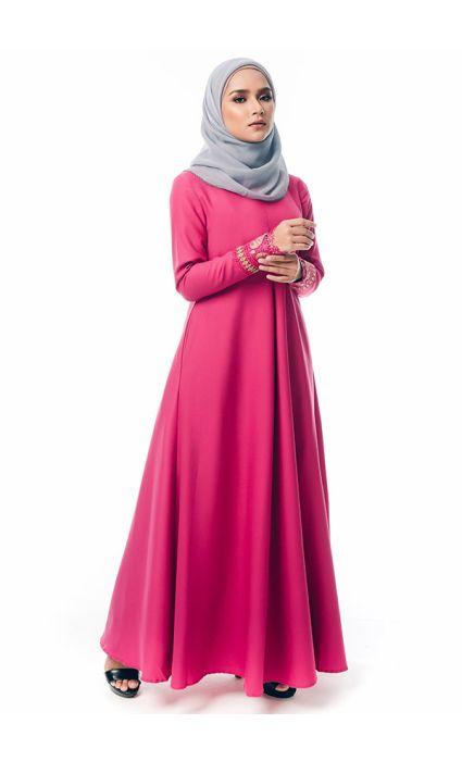 Syahdu Dress Fuchsia