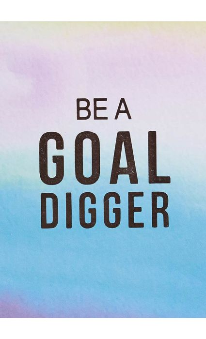 Note Book - Be A Goal Digger