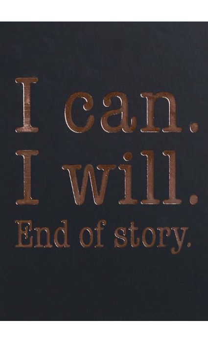 Note Book - I Can I Will