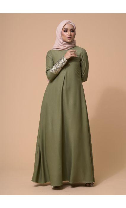 Laila Dress Olive Green